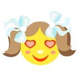 W miłości smiley dziewczynie Obrazy Stock