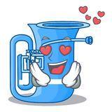 W miłości tuba w kształt śmiesznej kreskówce ilustracji