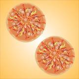 W miękkiej kolor pizzy Fotografia Royalty Free