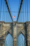 W Miasto Nowy Jork Most Brooklyński, Ameryka Obraz Royalty Free