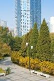 W miasto parku jesień dzień Obrazy Royalty Free