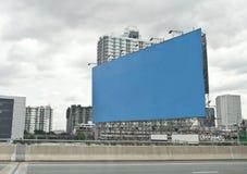 W mieście reklamowa deska Fotografia Stock