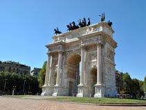 W Milano Architektura. Zdjęcie Stock