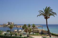 W Monastir morza wybrzeże, Tunezja w Afryka Zdjęcia Royalty Free