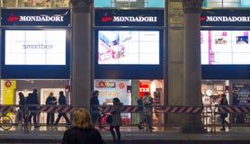 W Mondadori online bibliotecznym pokazie Zdjęcie Stock
