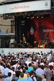 W Montreal festiwal jazzowy Tłum Fotografia Stock