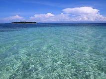 W Morzu Karaibskim turkusowe wody Obraz Royalty Free