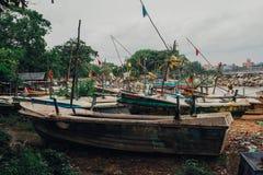 W morzu rybak wioska Fotografia Royalty Free