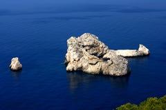 W morzu Wihte skały Obraz Stock