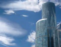 W Moskwa centre biznesowi budynki Rosja fotografia stock