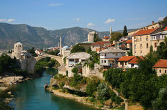 W Mostar stary most obrazy royalty free