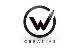 W muśnięcia listu loga projekt Kreatywnie Oczyszczony list ikony logo royalty ilustracja