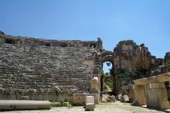 W Myra antyczny amfiteatr, zdjęcie royalty free
