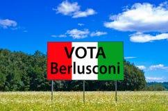 W następnych wyborach save Włochy, głosowanie Berlusconi, Forza Italia Obraz Stock