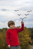 W niebie dzieciaka obraz Zdjęcie Royalty Free