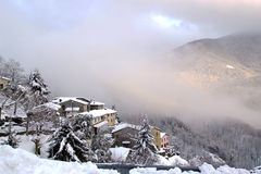 W śniegu Obrazy Royalty Free