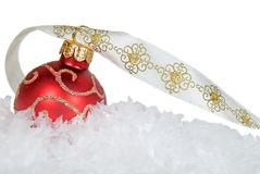 W śniegu wakacyjny ornament Obraz Royalty Free