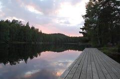 w nocy 3 d ilustracji krajobrazu różowy Zdjęcie Royalty Free