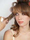 w nocy kobieta fryzurę Obrazy Stock