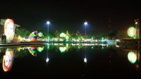 W Nonthaburi urząd miasta coroczny świętowanie Obraz Royalty Free
