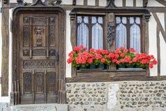 W Normandy stary dom fotografia stock
