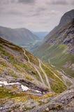W Norwegia halna Trollstigen droga fotografia royalty free