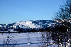 W Norwegia zima krajobraz Obraz Stock