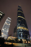W Nowym Guangzhou Miasteczku noc scena Zhujiang Fotografia Royalty Free