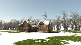 Winter Houses Royalty Free Stock Images