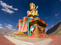 W Nubra dolinie Buddha statua Obrazy Royalty Free