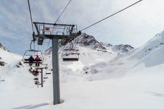 W ośrodka narciarskiego Les łukach - los angeles Plagne, Francja obraz royalty free