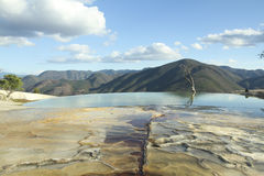 W Oaxaca stan Hierve agua el, Mexico Obrazy Royalty Free