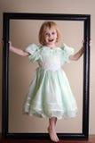 W obrazek ramie ładna dziewczyna Obraz Stock