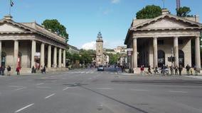 W?och bergamo Jeden pi?kny miasto w W?ochy Widok centrum miasta przy Porta Nuova z bli?niak?w dziejowymi budynkami zdjęcie wideo