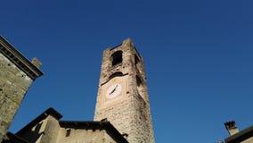 W?och bergamo starego miasta Krajobraz przy zegarowy wierza dzwonił Il Campanone Ja lokalizuje w głównym placu górny miasteczko zbiory