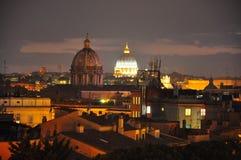 Włoch punktu zwrotnego miasta wieczna noc niszczy rocznego Rzymu Zdjęcie Stock