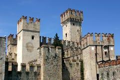 Włoch sirmione zamek Fotografia Royalty Free