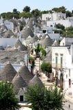 Włoch trulli powietrznej alberobello widok Zdjęcie Royalty Free