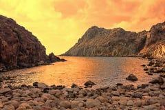 Włochy Cala Fico, San Pietro wyspa - Fotografia Stock