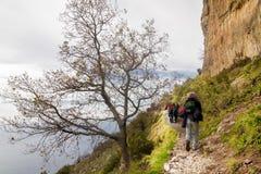 Włochy, Campania, Praiano, Agerola Sentiero degli Dei Obrazy Royalty Free