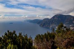 Włochy, Campania, Praiano, Agerola Sentiero degli Dei Obraz Stock
