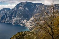Włochy, Campania, Praiano, Agerola Sentiero degli Dei Zdjęcia Royalty Free