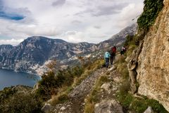 Włochy, Campania, Praiano, Agerola Sentiero degli Dei Fotografia Stock