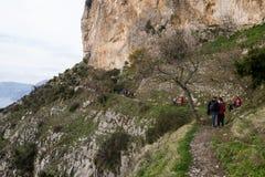 Włochy, Campania, Praiano, Agerola Sentiero degli Dei Zdjęcie Stock