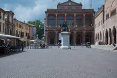 10 Włochy Cavour Czerwa 2016 kwadrat w Rimini w Emilia Romagna regionie, Italy Fotografia Royalty Free