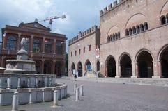 10 Włochy Cavour Czerwa 2016 kwadrat w Rimini w Emilia Romagna regionie, Italy Zdjęcia Royalty Free