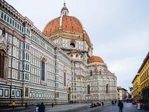 Włochy Florencja katedra w deszczowym dniu Zdjęcia Royalty Free