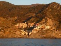 Włochy, jeden Cinque Terre wioski: Manarola Fotografia Royalty Free