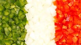 Włochy jedzenia flaga Obrazy Stock