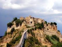Włochy, Lazio, Viterbo, widok wioska Civitella d ` Agliano Obraz Stock